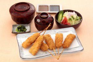 串かつ料理 活のトンヘレ定食