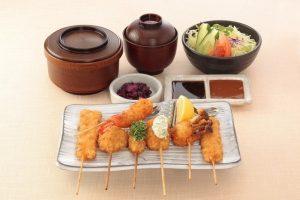 串かつ料理 活の串かつ御膳